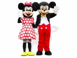 Mickey & Minnie Mouse Maskottchen