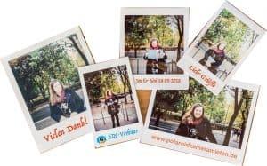 Kamera mieten mit Fotosticker / Fotoaufkleber